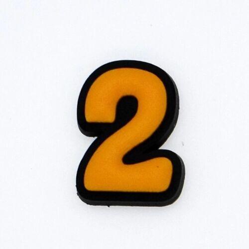 Number Croc Shoe Charms Bracelet Accessories Figure Ornaments Decorative Buttons