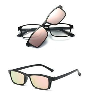 Magnetic-Polarized-Clip-on-Sunglasses-Driving-Rx-able-TR-Eyeglass-Frames-Fashion