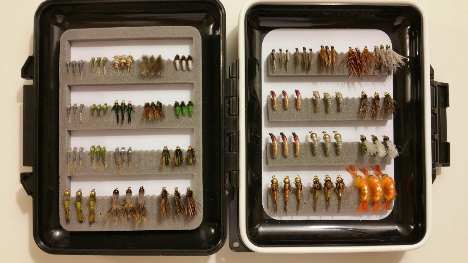 Assortment of Dry Wet Flies and Nymphs - WD 40's, Caddis, Worms, etc. (Qty. 93)