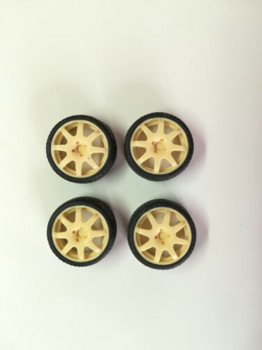 4 pneumatici 1//18 Rally Norev Ottomobile Set 4 Cerchi wheels Speedline 2012