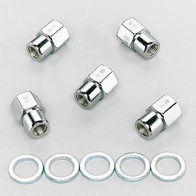 x 20 RH Set of 5 Weld Racing Lug Nuts 7//16 in 601-1454