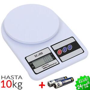 Bascula de Cocina Digital Electronica Desde 1gr hasta 5000gr 5kg Pilas Incluidas