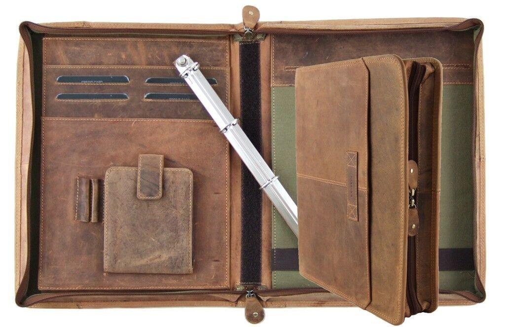 Harold's Schreibmappe 35275 cm Rind-Leder RingBuch-Mappe Konferenzmappe 385403 | Verkauf Online-Shop  | Elegante Und Stabile Verpackung  | Moderner Modus