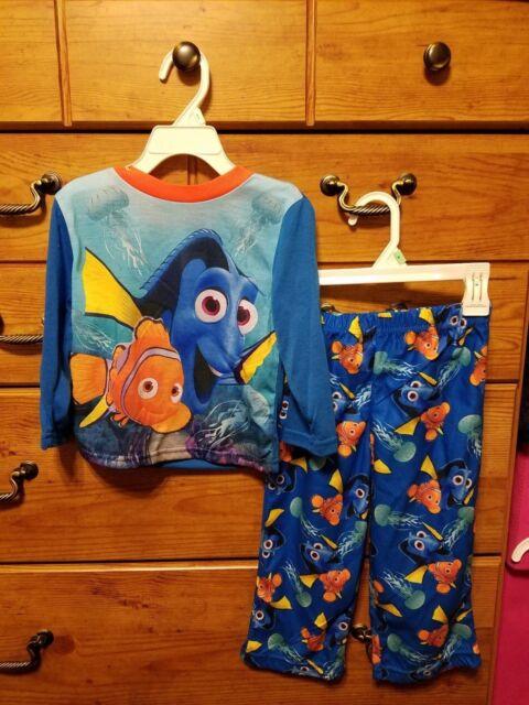 New Disney Pixar Finding Dory 2 pc Pajama sleep Set Toddler Size 3T Boy or Girl