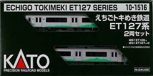 Kato-10-1516-Echigo-Tokimeki-Railway-Series-ET-127-2-Cars-Set-N-scale