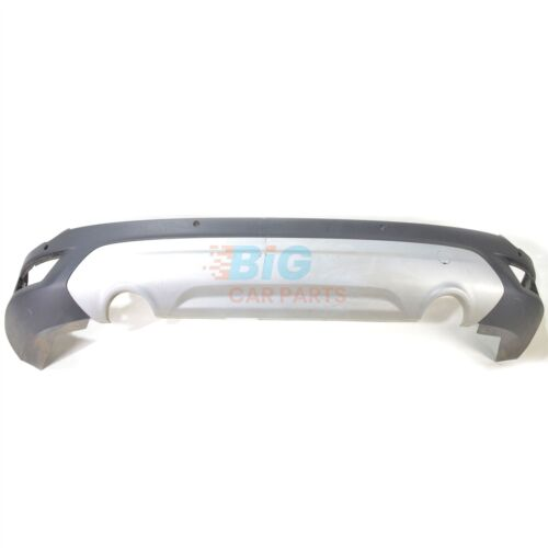 CENTRE SILVER COVER GENUINE FORD KUGA 2013-ON REAR BUMPER in TEXTURED BLACK