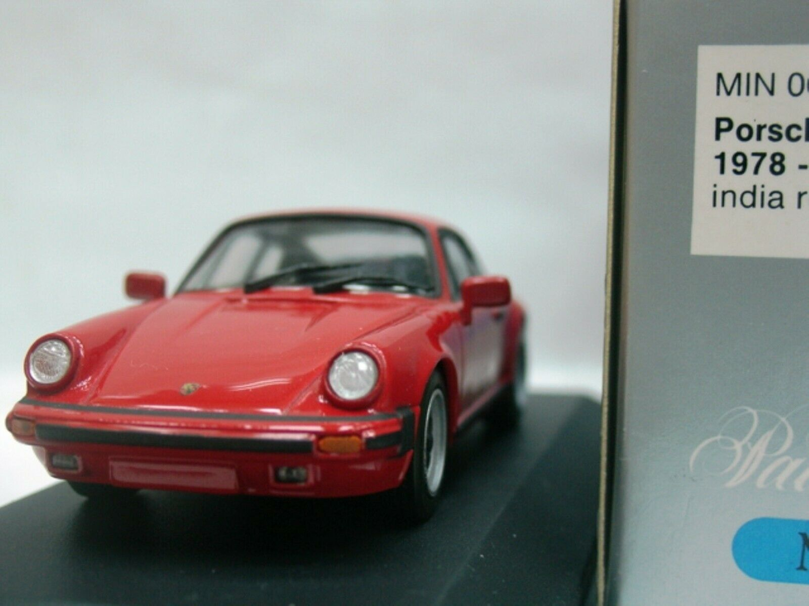 WOW EXTREMELY RARE Porsche 930 1983 911 3.0 SC G-Model Coupe Red 1 43 Minichamps