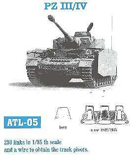 Friulmodel ATL-05 1:35 Pz III//IV Mod 230 Links 1942//45 Track Set