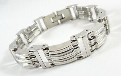 """New Mens 8.5"""" Italian Design Stainless Steel Biker Chain Bracelet #B-MC31681"""