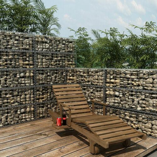 SONGMICS Gabion panier à pierres mur clôture barrière jardin panier treillis