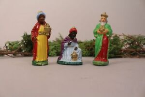 Nativity-Figures-Set-Three-Kings-Colourful-Old-Antique-Handmade-Christmas-Decor