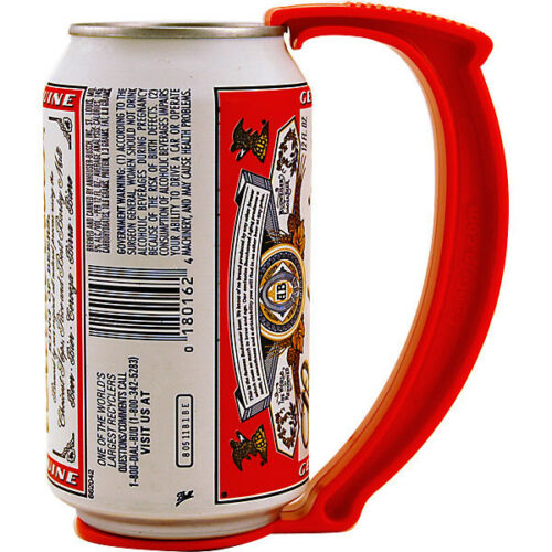 Clips on your Can! Fun Drinking Bar Gift! Instant Beer Stein Can Grip Handle