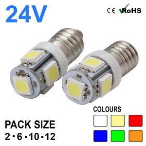 2 X 24V GREEN LED BULBS CAPLESS 507 501 SIDE LIGHT W5W T10 WEDGE HGV MAN VOLVO