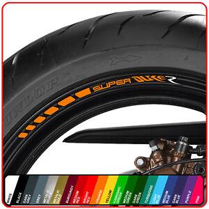 KTM SUPER DUKE R wheel rim stickers decals - choice of 20 colours - 1290 990 gt