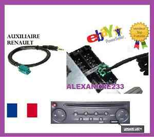 cable auxiliaire prise audio autoradio mp3 renault. Black Bedroom Furniture Sets. Home Design Ideas