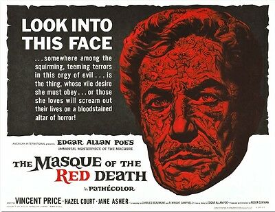 The Masque of the Red Death Vincent Price Movie Poster