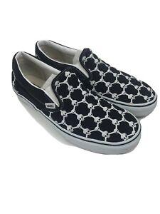 Vans-Men-039-s-Fixed-Gear-Skull-Chain-Link-Slip-On-Shoes-Skateboarding-Sneakers-12