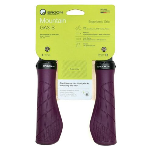Small Purple Reign Ergon GA3 Grips