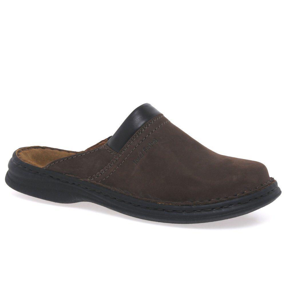 Sandali e scarpe per il mare da uomo Josef Seibel Max muli di cuoio marrone uomo