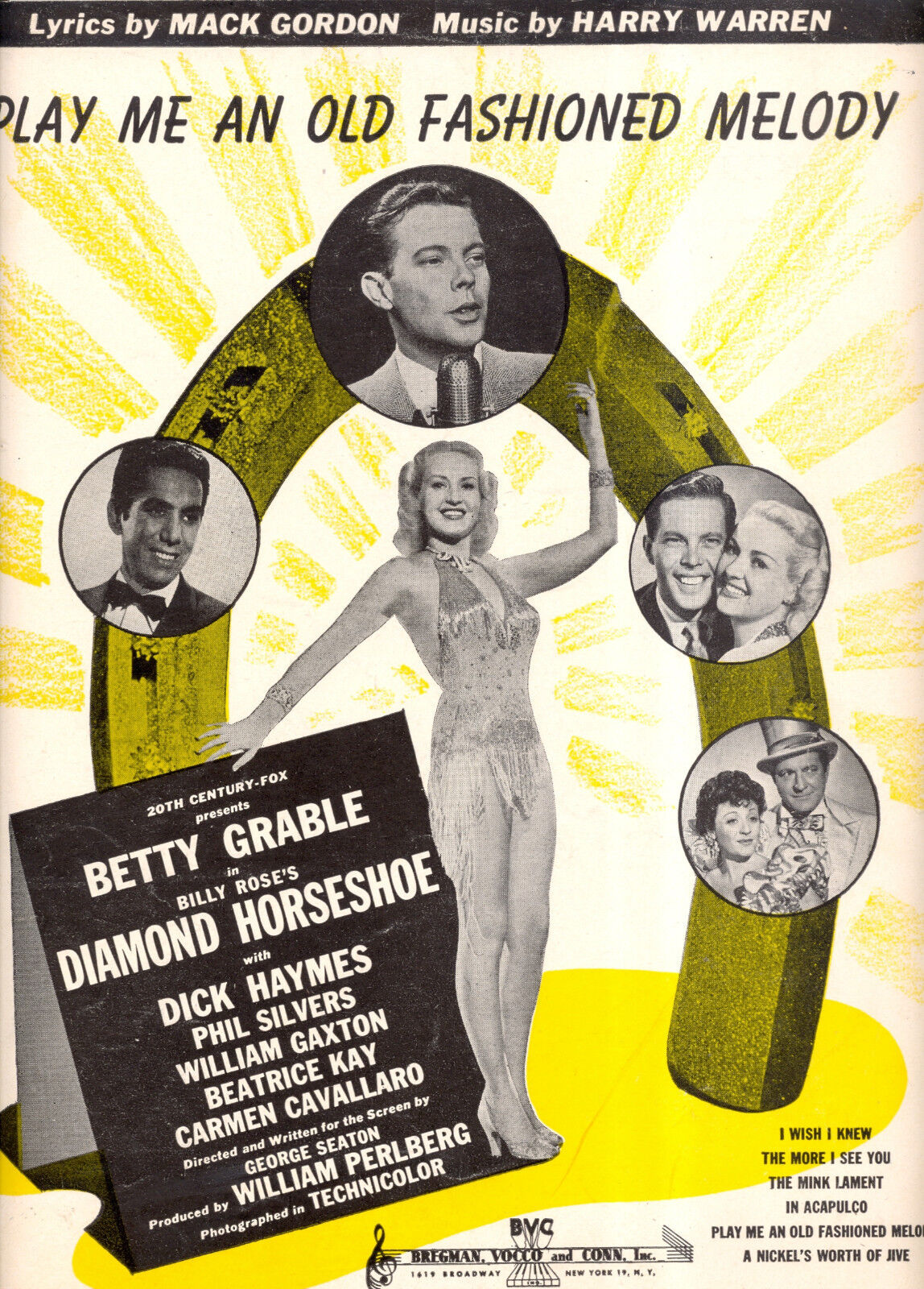 Diamond Hufeisen Notenblatt   Play Me an Old Fashioned Melodie   Betty Grable
