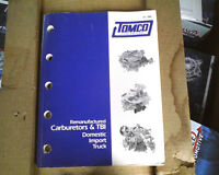 1995 Tomco Carburetor Catalog, Never Been Used, Lot Of Helpful Carb Id Info,new