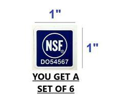 6 Nsf Sticker Decal National Sanitation Foundation Restaurants Electrical Safety