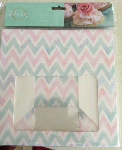 Pink//Blue//White zig zag Pack of 2 x Cupcake//Cake Boxes each holding 6 cupcakes