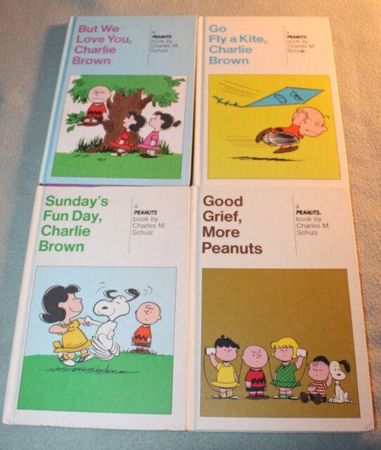Lot of 4 Snoopy Weekly Reader Hardback book, Charlie Brown, Peanuts