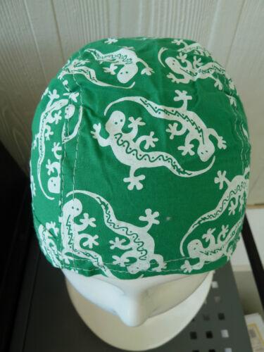 100/% cotton Biker Durag//Helmet liner.One size fits all Bandana-Head Wrap Green