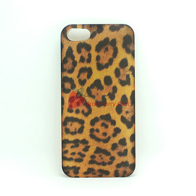 Hard Glossy Leopard Pattern Bumper Case Cover Skin Protector for iPhone 5S