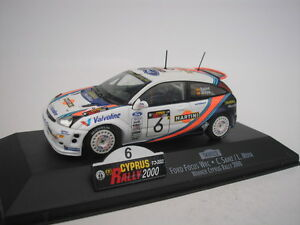 FORD-FOCUS-WRC-6-CYPRUS-RALLY-2000-C-SAINZ-1-43-SKID-NEW