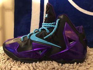 online store 093c8 25323 Details about Nike Lebron 11 XI ID, 641216-991, Purple/Black, Men's  Basketball Shoes, Size 9.5