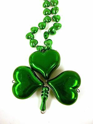 Leprechaun Shamrock Clover Pipe St Patrick/'s Day Mardi Gras Necklace