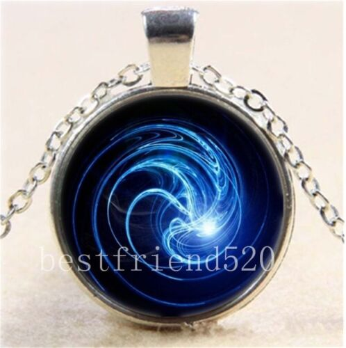 Birth of a Soul Photo Cabochon Glass Tibet Silver Chain Pendant Necklace