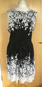 F-amp-F-Ladies-Dress-20-Summer-Floral-Work-Occasion-Smart-Fit-amp-Flare-New-with-Tags