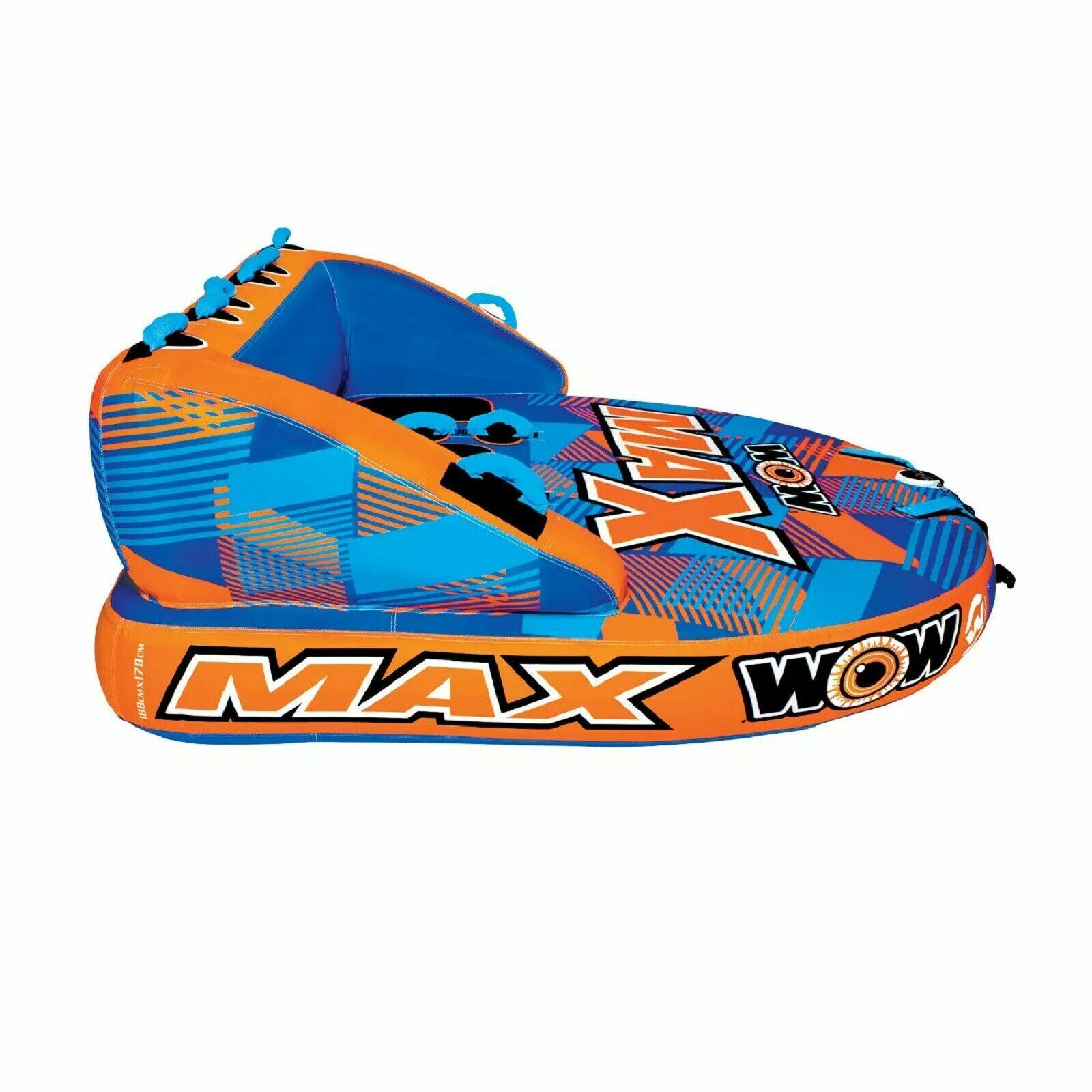 Image 9 - WOW MAX 1, 2 or 3 Person Inflatable Towable Tube Boat Water Raft Float FAST SHIP