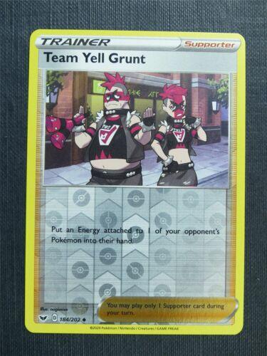 Sword and Shield Pokemon Cards #O5 Team Yell Grunt 184//202 Reverse Holo