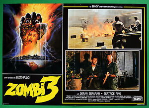 T50 Fotobusta Zombie 3 Lucio Fulci Deran Serafian Beatrice Ring Horror 4