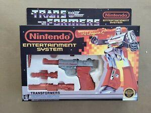 Transformers G1 Megatron Nintendo NES custom unapplied 100% complete n box!!!