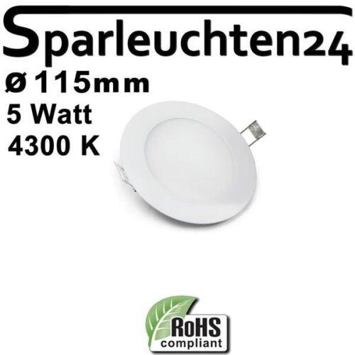 5W LED Panel new weiß rund Ultra Slim Einbau Strahler dimmbar 4300K