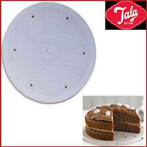 26 Cake Turntable TALA Icing 360 Degree Rotate White Flat Stand Turn Table New