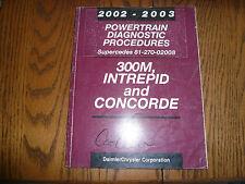 2002 2003 Chrysler Powertrain Diagnostic Procedures - 300M Intrepid Concore
