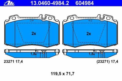 UAT Disques De Frein 330 mm troué garnitures avant Mercedes Classe S w220 c215