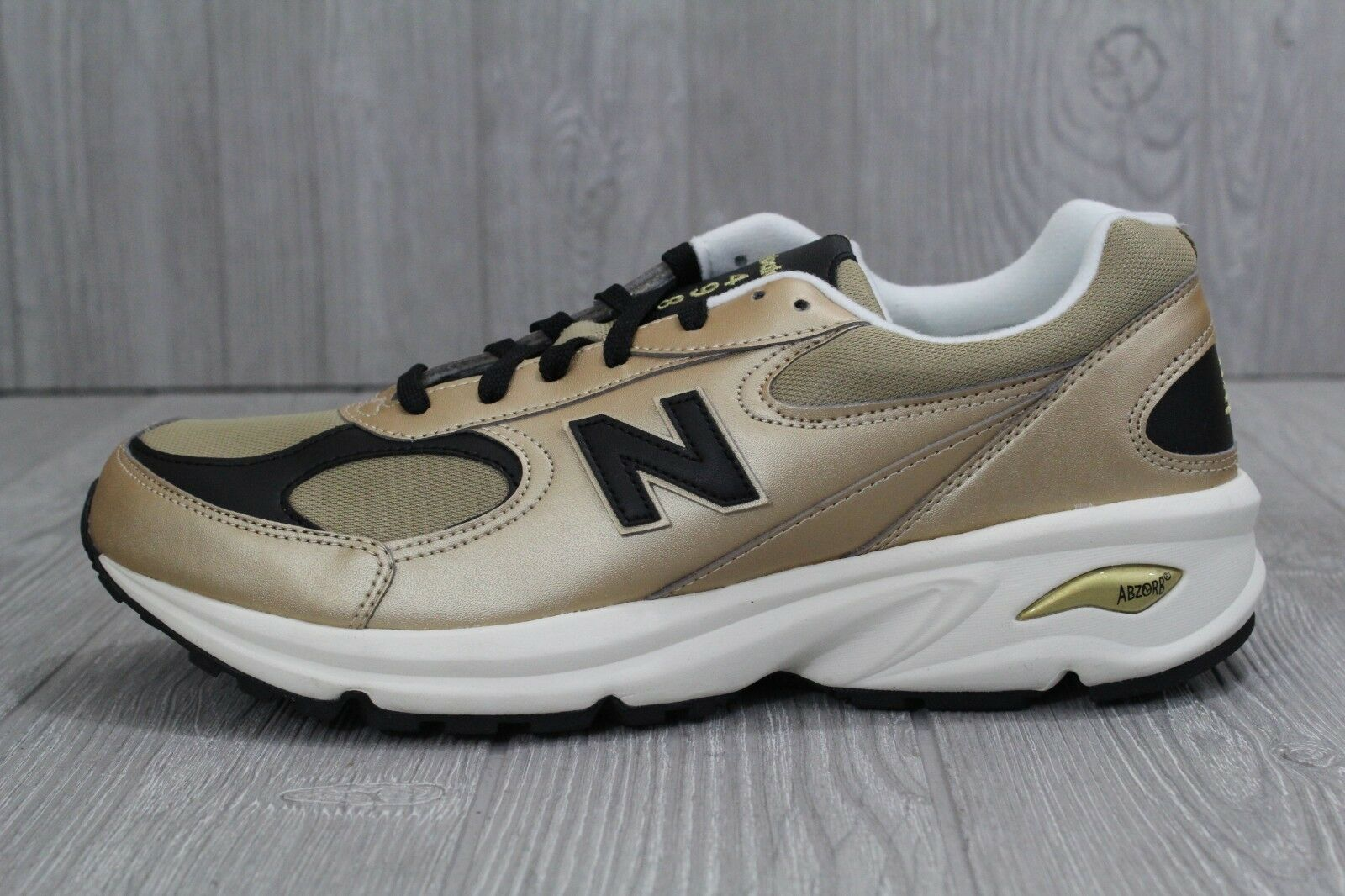 30 Mens New Balance ML498 GB gold Leather Running Athletic shoes Size 11 D