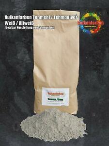 Vulkanfarben Tonmehl weiß, Lehmpulver für Lehmputz