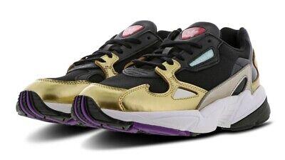 adidas Falcon Black Gold Women Originals Running Shoes 100%AUTHENTIC G26027  Rare | eBay