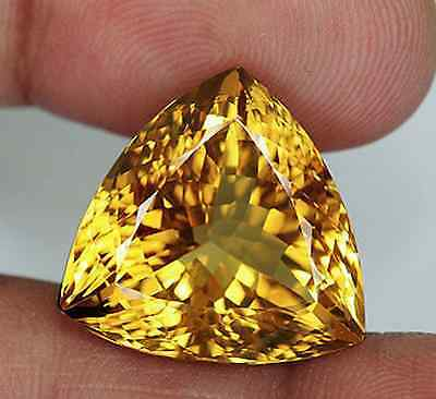Genuine Natural Golden Citrine AAA Trillion Loose Gemstones 3x3mm - 13x13mm