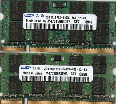 4GB 2x 2GB Kit Fujitsu LifeBook A1110 A1120 A1130 A3110 A3120 A3130 S2710 Memory