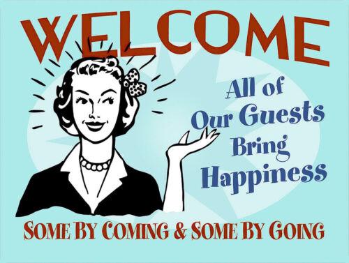 Bienvenue Drôle Rétro Métal Signe//Plaque Cadeau de nouveauté Home Decor