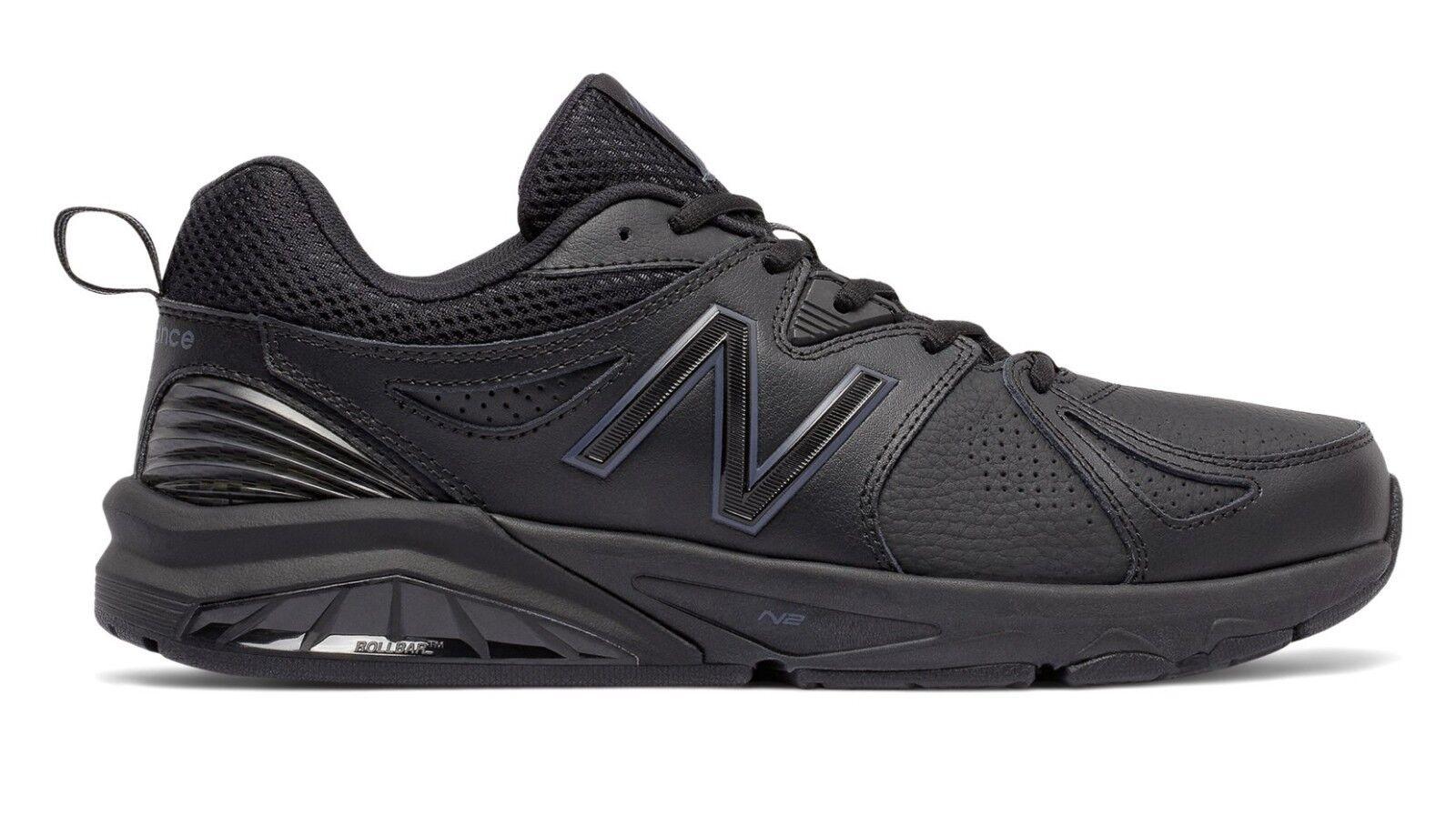 New Balance MX857AB2 Uomo 857v2 nero nero nero Leather Trainer Everyday Training scarpe 281830